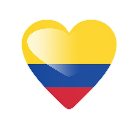Colombia 3D heart shaped flag photo