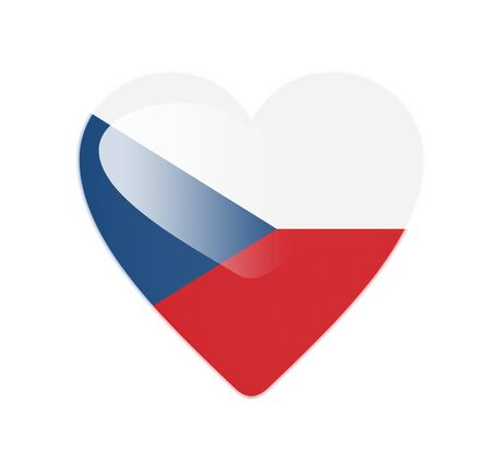 Czech Republic 3D heart shaped flag Stock Photo - 13246051