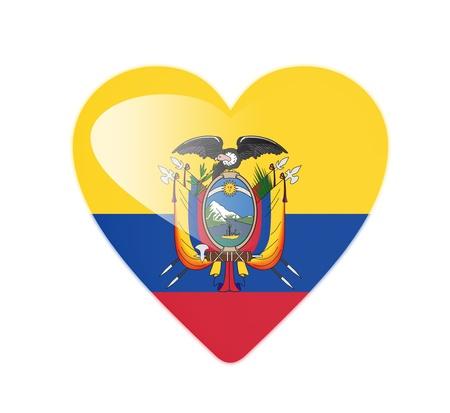 Ecuador 3D heart shaped flag photo