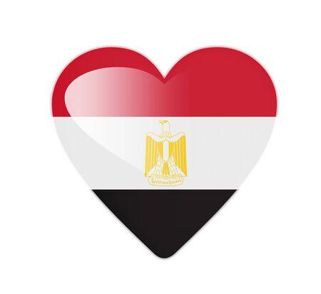 Egypt 3D heart shaped flag photo