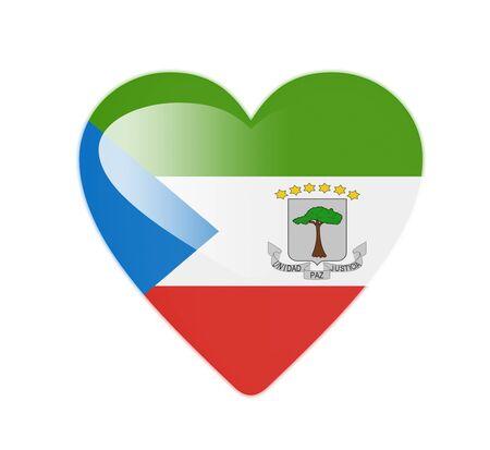 equatorial: Equatorial Guinea 3D heart shaped flag