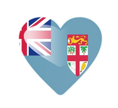 fiji: Fiji 3D heart shaped flag