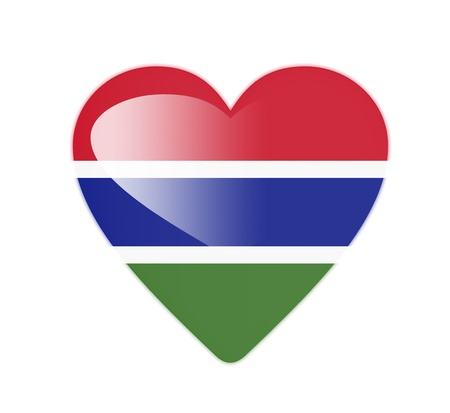 Gambia 3D heart shaped flag photo