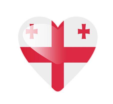 Georgia 3D heart shaped flag photo