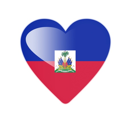 haiti: Haiti 3D heart shaped flag