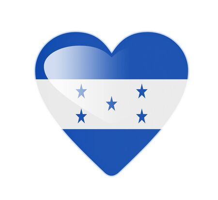 bandera de honduras: Honduras 3D pabell�n en forma de coraz�n