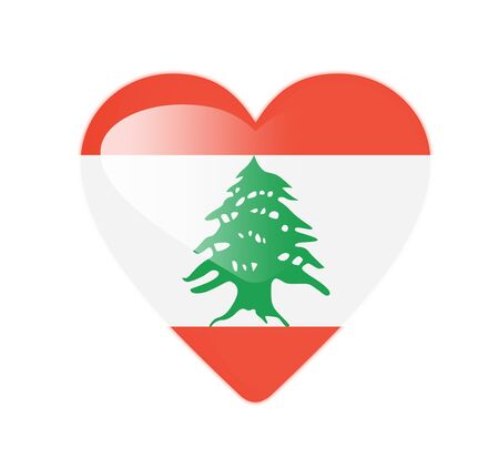 Lebanon 3D heart shaped flag photo