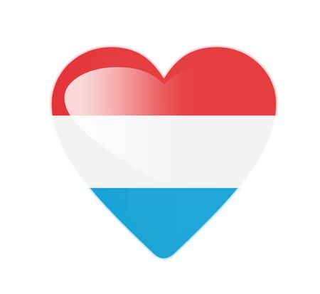 Luxembourg 3D heart shaped flag photo