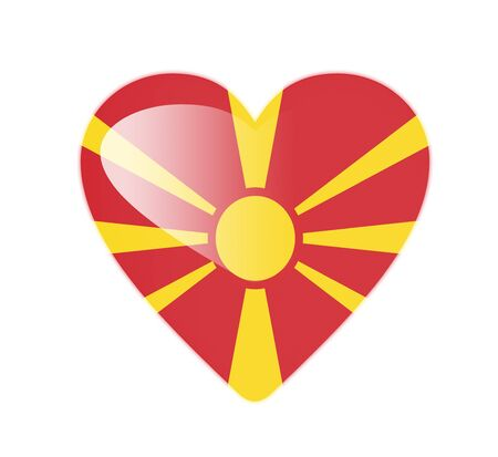 macedonia: Macedonia 3D heart shaped flag Stock Photo