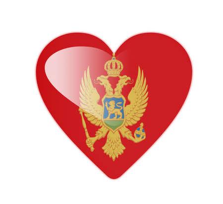 Montenegro 3D heart shaped flag photo