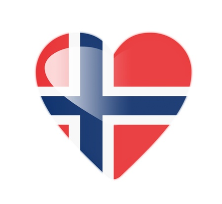 Norway 3D heart shaped flag photo