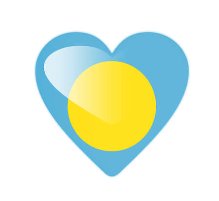 Palau 3D heart shaped flag photo