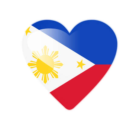 Philippines 3D heart shaped flag photo