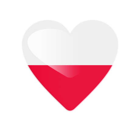 Poland 3D heart shaped flag photo