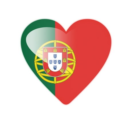 Portugal 3D heart shaped flag photo