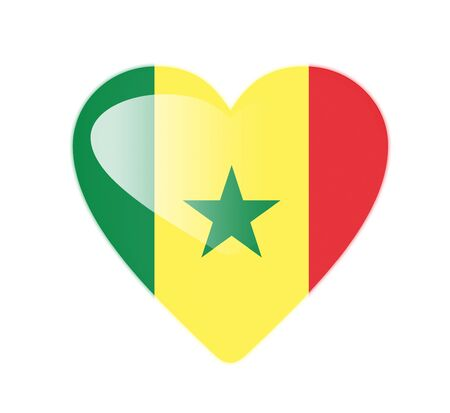 Senegal 3D heart shaped flag Stock Photo - 13245752