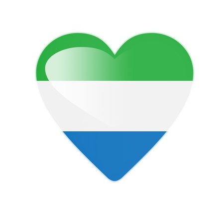 Sierra Leone 3D heart shaped flag photo