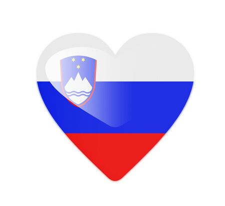 Slovenia 3D heart shaped flag photo