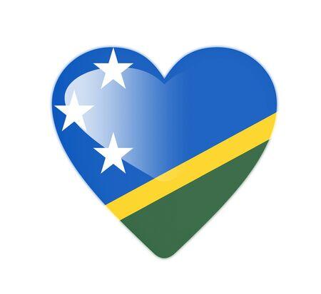Solomon Islands 3D heart shaped flag photo
