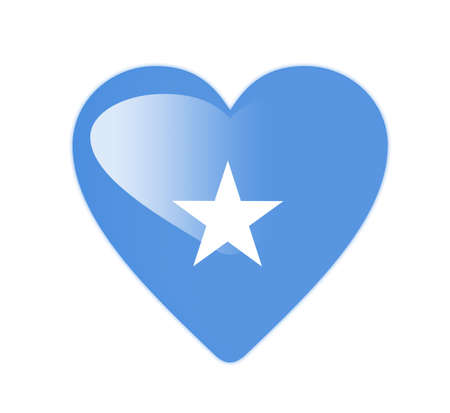 somalia: Somalia 3D heart shaped flag Stock Photo