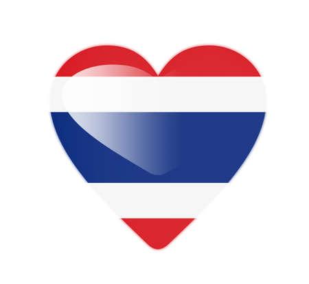 Thailand 3D heart shaped flag Stock Photo - 13246001