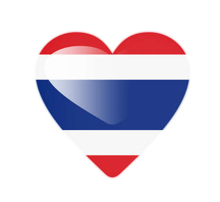 Thailand 3D heart shaped flag Stock Photo - 13246001