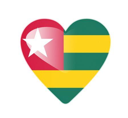 Togo 3D heart shaped flag photo