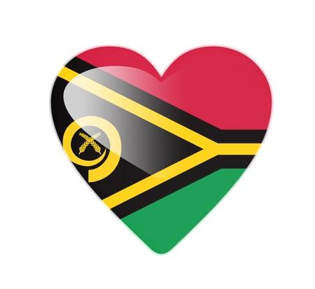 Vanuatu 3D heart shaped flag photo