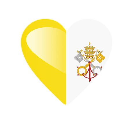 Vatican 3D heart shaped flag photo