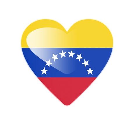 bandera de venezuela: Venezuela en 3D bandera en forma de coraz�n