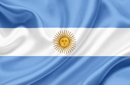 argentina flag: Argentina waving flag