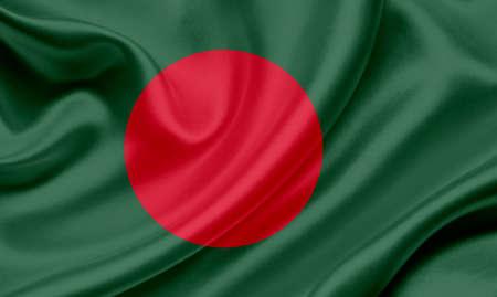 bangladesh 3d: Bangladesh waving flag