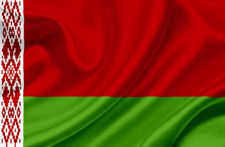 belarus: Belarus waving flag Stock Photo