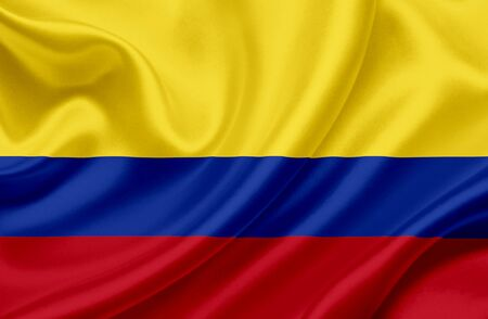 colombia flag: Colombia waving flag Stock Photo