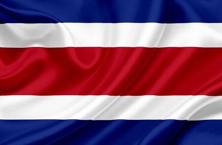 old flag: Costa Rica waving flag