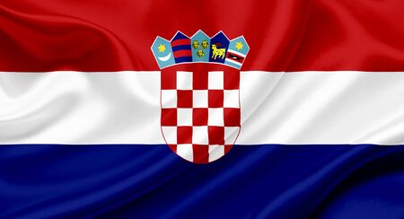 Croatia waving flag Stock Photo - 13329557