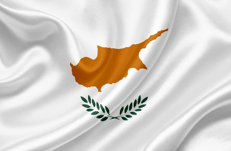 Cyprus waving flag photo