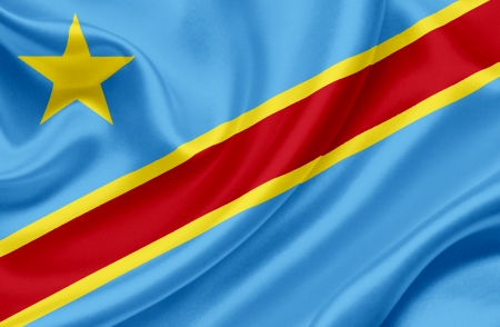 republic of the congo: Democratic Republic of Congo waving flag Stock Photo