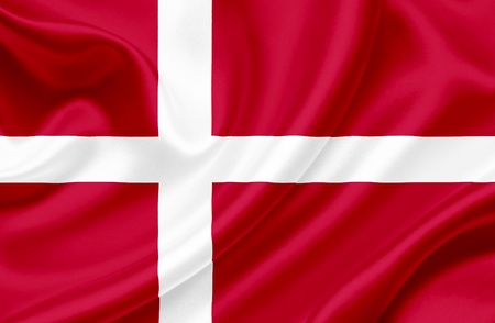 Denmark waving flag photo