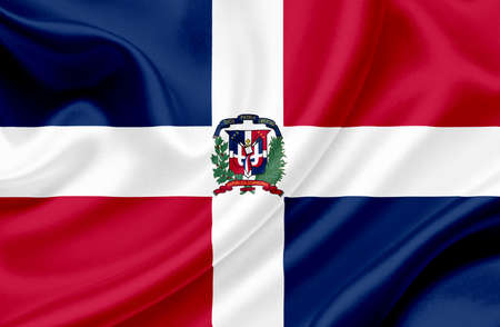 dominican republic: Dominican Republic waving flag Stock Photo
