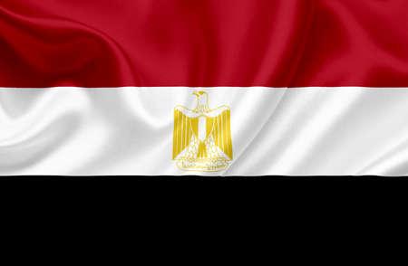 Egypt waving flag photo