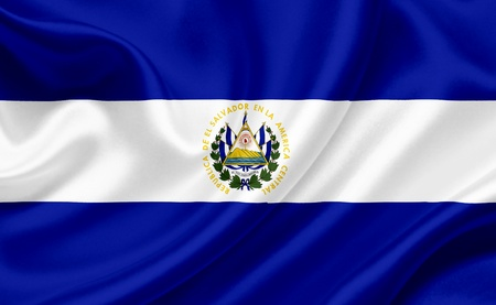 el: El Salvador waving flag Stock Photo