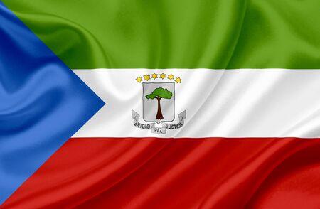 Guinea Ecuatorial Bandera de Foto de archivo