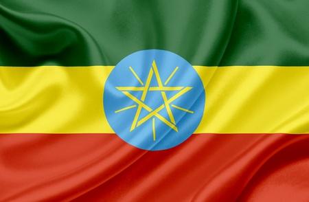 Ethiopia waving flag photo