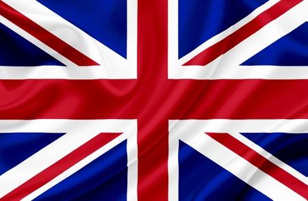 great britain: Grand drapeau onduler la Grande-Bretagne