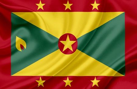 grenada: Grenada waving flag Stock Photo