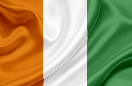 Ivory Coast waving flag