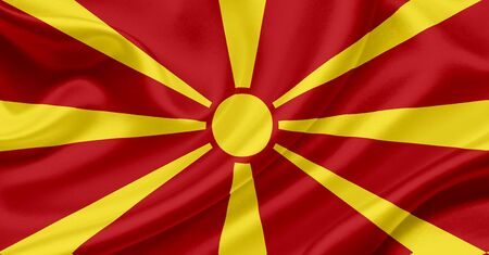 macedonia: Macedonia waving flag Stock Photo
