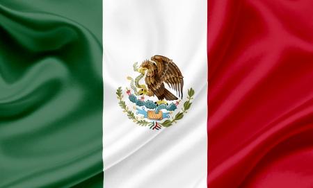 mexico flag: Mexico waving flag