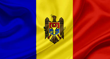 Moldova waving flag Stock Photo - 13329561